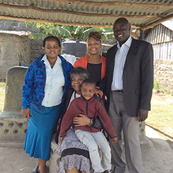 Pastor Musumba and family (Kenya, E. Africa) with Dr. Phillips and Gloria Stidum, Director